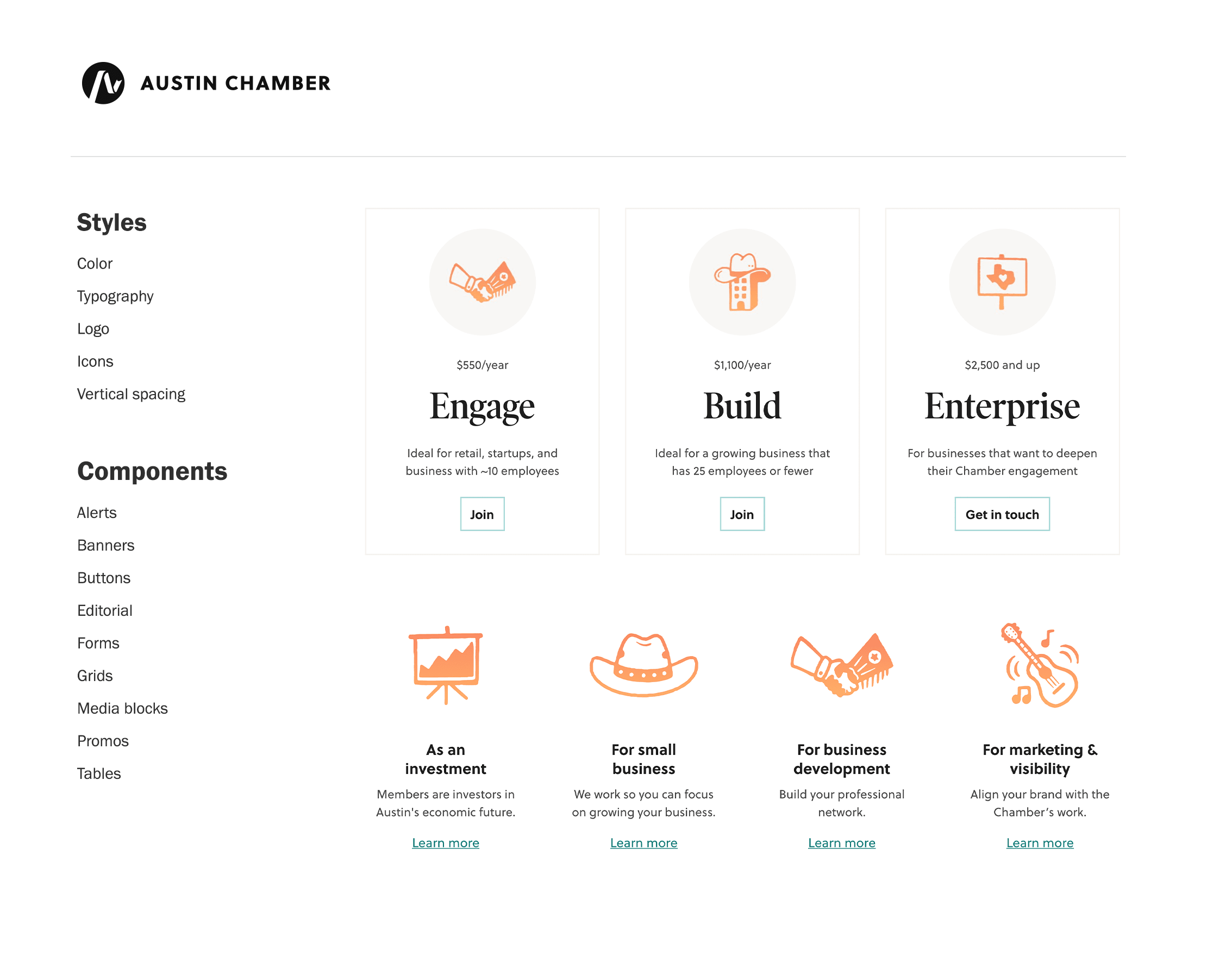 Austin Chamber of Commerce Design System