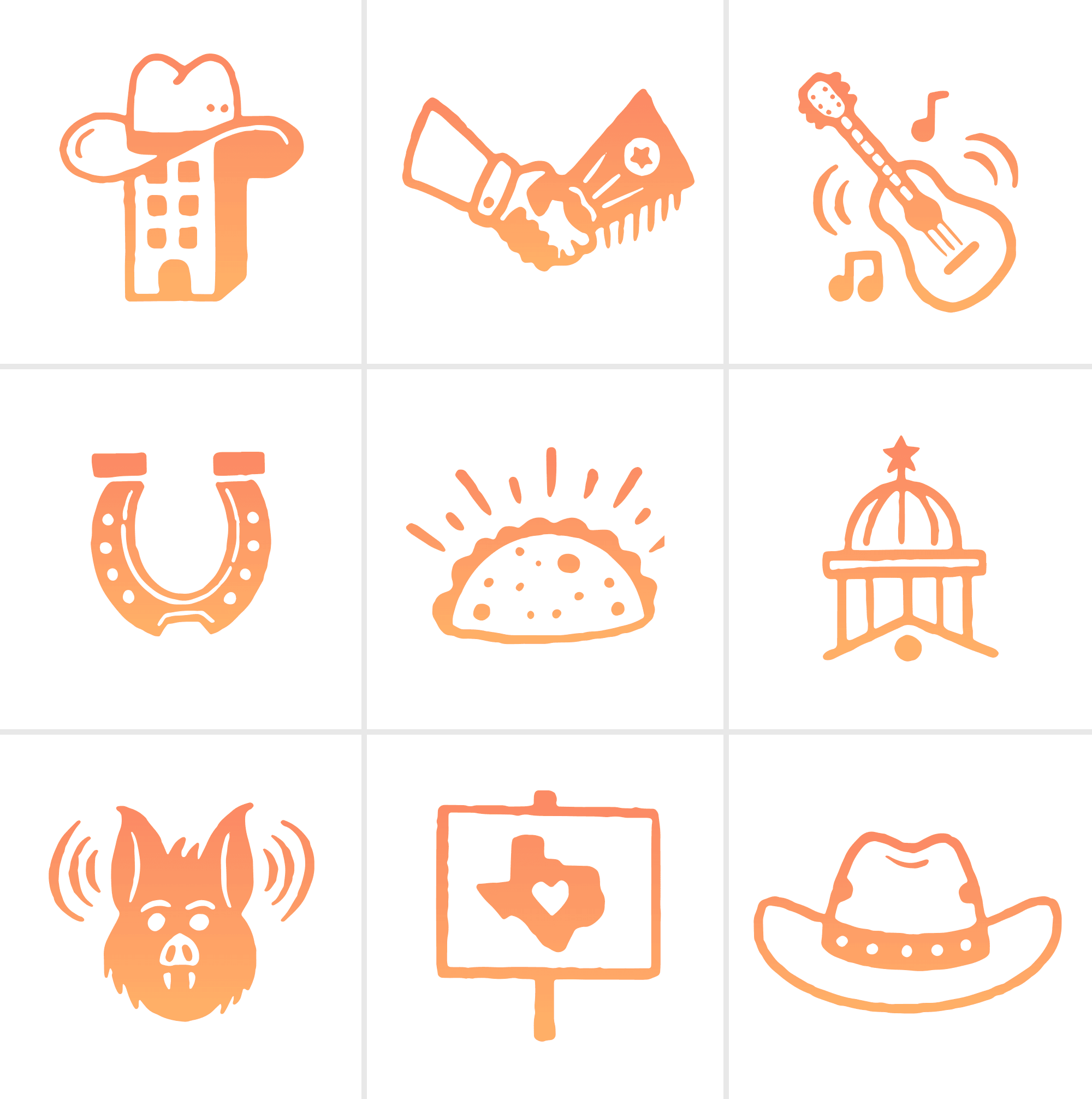 Austin Chamber of Commerce icon set by Bryan Butler