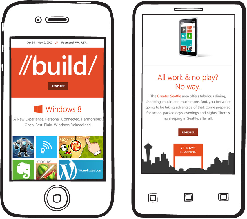 build mobile view