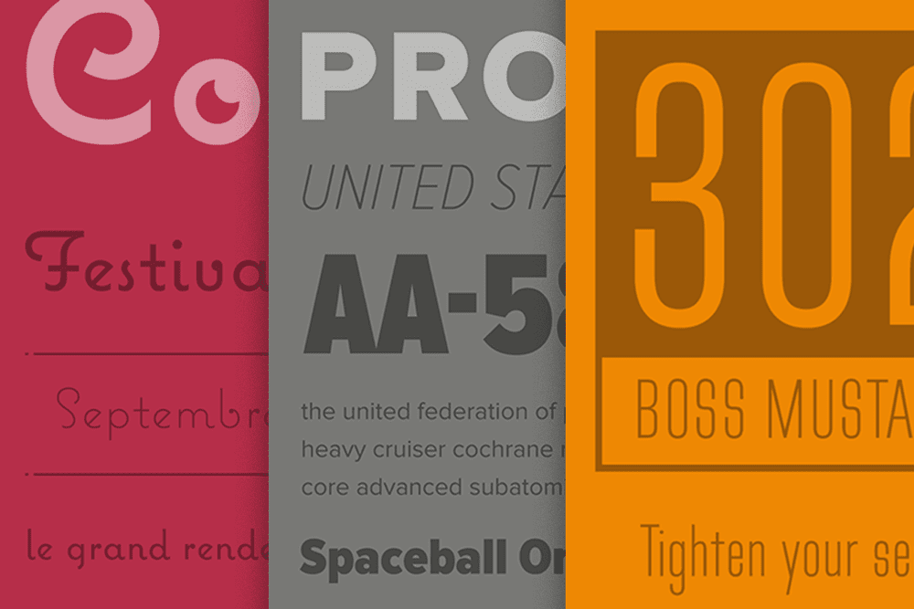 Mark Simonson site design typographic specimen